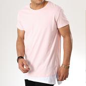 /achat-t-shirts-longs-oversize/classic-series-tee-shirt-oversize-200-rose-blanc-177383.html