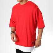 /achat-t-shirts-longs-oversize/classic-series-tee-shirt-oversize-208-rouge-blanc-177387.html
