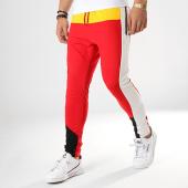 /achat-pantalons-joggings/classic-series-pantalon-jogging-a-bandes-w19091-rouge-jaune-blanc-noir-177537.html