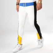 /achat-pantalons-joggings/classic-series-pantalon-jogging-a-bandes-w19091-blanc-jaune-noir-bleu-roi-177539.html
