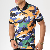 /achat-polos-manches-courtes/ikao-polo-manches-courtes-f405-jaune-bleu-marine-camouflage-177547.html