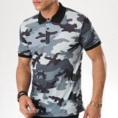 /achat-polos-manches-courtes/ikao-polo-manches-courtes-f405-noir-gris-camouflage-177548.html