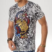 /achat-t-shirts/john-h-tee-shirt-a033-blanc-noir-leopard-177370.html