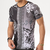 /achat-t-shirts/john-h-tee-shirt-m-19-noir-gris-floral-177392.html