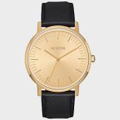 /achat-montres/nixon-montre-porter-leather-a1058-1147-noir-dore-177602.html