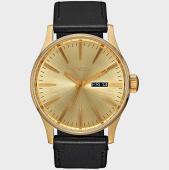 /achat-montres/nixon-montre-sentry-leather-a105-510-noir-dore-177607.html