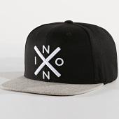 /achat-snapbacks/nixon-casquette-snapback-exchange-noir-gris-chine-177635.html