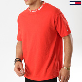 /achat-t-shirts/tommy-hilfiger-jeans-tee-shirt-heather-branded-collar-6062-rouge-177567.html