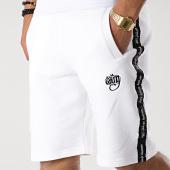 /achat-shorts-jogging/wrung-short-jogging-a-bandes-furyo-blanc-noir-177431.html