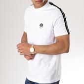 /achat-t-shirts/wrung-tee-shirt-avec-bandes-hack-blanc-177433.html