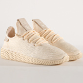 /achat-baskets-basses/adidas-baskets-femme-tennis-hu-pharrell-williams-d96552-beige-cloud-white-core-black-177696.html