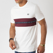 /achat-t-shirts/fred-perry-tee-shirt-tape-m5569-blanc-bordeaux-177692.html