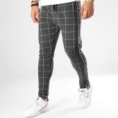 /achat-pantalons-carreaux/gianni-kavanagh-pantalon-a-carreaux-avec-bandes-gkg001065-gris-noir-177686.html