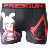/achat-boxers/freegun-boxer-lapin-cretins-creed-noir-rouge-177944.html