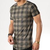 /achat-t-shirts-longs-oversize/gov-denim-tee-shirt-oversize-a-carreaux-avec-bandes-g18005-vert-kaki-noir-177823.html