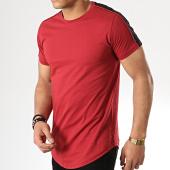 /achat-t-shirts-longs-oversize/gov-denim-tee-shirt-oversize-a-bandes-g18012-bordeaux-177824.html
