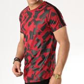 /achat-t-shirts-longs-oversize/gov-denim-tee-shirt-oversize-a-bandes-g18011-bordeaux-noir-177826.html