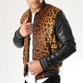 /achat-vestes/gov-denim-veste-zippee-fourrure-dxf013-leopard-noir-177851.html