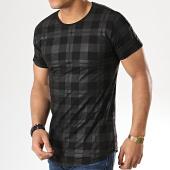 /achat-t-shirts-longs-oversize/gov-denim-tee-shirt-oversize-a-carreaux-avec-bandes-g18005-gris-noir-177853.html