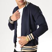 /achat-vestes/gov-denim-veste-zippee-183003-bleu-marine-blanc-beige-177859.html