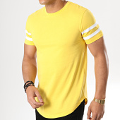 /achat-t-shirts-longs-oversize/lbo-tee-shirt-oversize-avec-bandes-blanches-720-jaune-177974.html