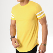 /achat-t-shirts-longs-oversize/lbo-tee-shirt-oversize-avec-bandes-blanches-720-jaune-177974.html