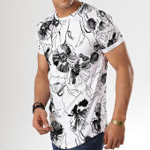 /achat-t-shirts-longs-oversize/aarhon-tee-shirt-oversize-91312-blanc-noir-floral-178232.html