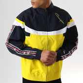 /achat-coupe-vent/champion-coupe-vent-bandes-brodees-213051-jaune-blanc-bleu-marine-178107.html