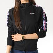 /achat-vestes/champion-veste-zippee-femme-avec-bandes-111673-noir-178159.html