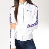 /achat-vestes/champion-veste-zippee-femme-avec-bandes-111673-blanc-178160.html
