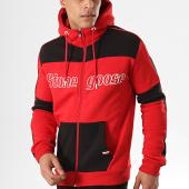 /achat-sweats-zippes-capuche/classic-series-sweat-capuche-zippe-a-bandes-gostac-rouge-noir-178288.html