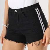 /achat-shorts-jean/girls-only-short-jean-femme-avec-bandes-29270b-noir-blanc-178006.html