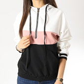 /achat-sweats-capuche/girls-only-sweat-capuche-femme-31051-noir-blanc-rose-178009.html