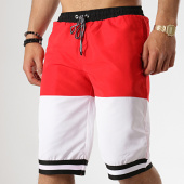 /achat-maillots-de-bain/john-h-short-de-bain-2p015-rouge-blanc-178076.html