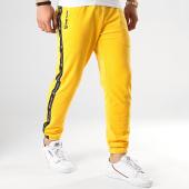 /achat-pantalons-joggings/sergio-tacchini-pantalon-jogging-a-bandes-original-37862-jaune-noir-velours-178146.html