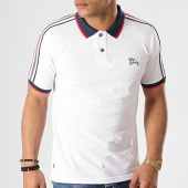 /achat-polos-manches-courtes/tokyo-laundry-polo-manches-courtes-avec-bandes-finley-blanc-178084.html