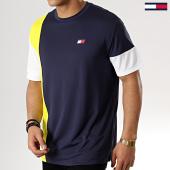 /achat-t-shirts/tommy-sport-tee-shirt-colourblock-0002-bleu-marine-blanc-jaune-178103.html