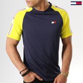 /achat-t-shirts/tommy-sport-tee-shirt-de-sport-avec-bandes-tape-detail-0003-bleu-marine-jaune-178104.html