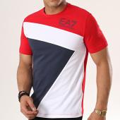 /achat-t-shirts/ea7-tee-shirt-3gpt68-pj03z-rouge-bleu-marine-blanc-178375.html