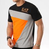 2ddc01e17c6 EA7 - Tee Shirt 3GPT68-PJ03Z Noir Orange Gris Chiné