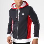 /achat-sweats-zippes-capuche/ea7-sweat-capuche-zippe-3gpm85-pj11z-bleu-marine-blanc-rouge-178385.html