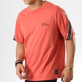 /achat-t-shirts/sixth-june-tee-shirt-avec-bande-m3693vts-rouge-brique-noir-178466.html