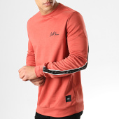 /achat-sweats-col-rond-crewneck/sixth-june-sweat-crewneck-a-bandes-m3694vsw-rouge-brique-noir-178470.html