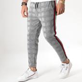 /achat-pantalons-carreaux/aarhon-pantalon-carreaux-avec-bandes-noir-rouge-18-228-4-gris-noir-178547.html