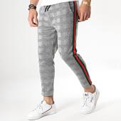 /achat-pantalons-carreaux/aarhon-pantalon-carreaux-avec-bande-vert-rouge-18-228-5-gris-noir-178549.html