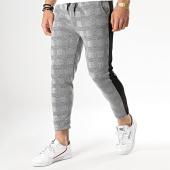 /achat-pantalons-carreaux/aarhon-pantalon-carreaux-avec-bande-noir-18-228-2-gris-noir-178550.html