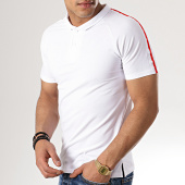 /achat-polos-manches-courtes/aarhon-polo-manches-courtes-a-bandes-aj229-blanc-178651.html