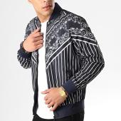 /achat-vestes/classic-series-veste-zippee-89033-bleu-marine-renaissance-blanc-178683.html