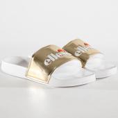 https://www.laboutiqueofficielle.com/achat-claquettes-sandales/claquettes-femme-filomene-osel91w398-blanc-dore-178582.html