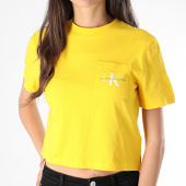 /achat-t-shirts/calvin-klein-tee-shirt-poche-crop-femme-monogram-9736-jaune-178709.html